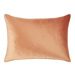 Прямоугольная подушка в теплой цветовой гамме NIGELLA VELVET 50*70 (Copper)