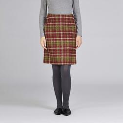 А-образная юбка с высокой талией из шерсти в клетку различных цветов MS 920