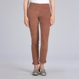 Вельветовые штаны терракотового цвета TR 064