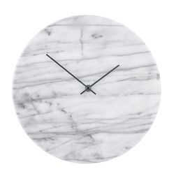 Настенные часы на мраморной основе без циферблата MARBLE WALL Ø30 (Grey)