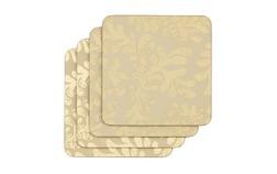 Набор подставок под чашку с растительным рисунком золотистого цвета BERKELEY SCROLL SET OF 4 COASTER