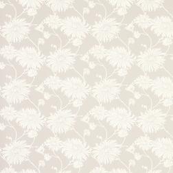 Бумажные обои светло-серого цвета с цветами хризантемы KIMONO (Dove Grey)
