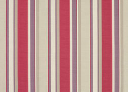 Гардинная ткань в вертикальную полоску клюквенного цвета EATON STRIPE (Cranberry)