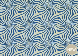 Гардинная ткань с крупным рисунком синего цвета CURZON (Sapphire)