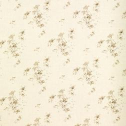 Ткань для штор украшена цветами азалии AZALEA (Sable)