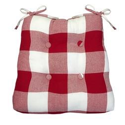 Мягкая сидушка для стула в клетку красного цвета WHITBY 40*40 (Red)