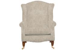 Красивое английское кресло в вельветовой ткани серо-бежевого цвета SOUTHWOLD 101*82*93