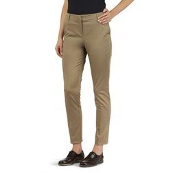 Укороченные брюки с высокой талией цвета кофе с молоком TR 875
