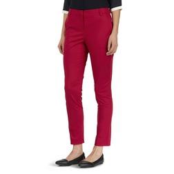 Укороченные брюки с высокой талией насыщенного красного цвета TR 875