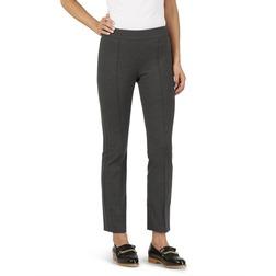 Стрейчевые брюки темно-серого цвета с боковой молнией TR 932