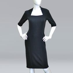 Трикотажное платье облегающего кроя, в графитовом цвете MD 080