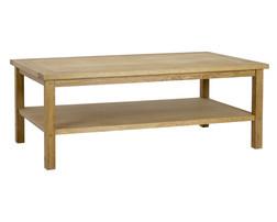 Кофейный столик из натурального дуба MILTON RECTANGULAR COFFEE TABLE 45*118*66 (Oak)