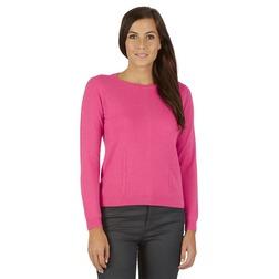 Кашемировый свитер нежно-розового цвета с пуговицами сзади JP 461