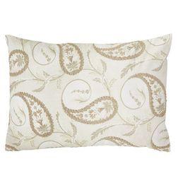 Декоративная подушка в бежевом цвете с шитьем THISTLEWOOD 40*60 (Linen)