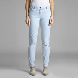 Зауженные джинсы нежно-голубого цвета из хлопка TR 982