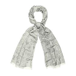 Жаккардовый шарф с люрексом и принтом в розы SH 367