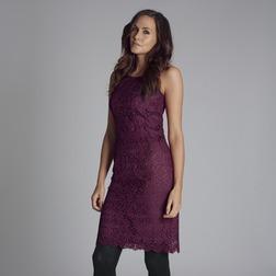 Кружевное платье длиной до колен бледно-розового цвета MD 164