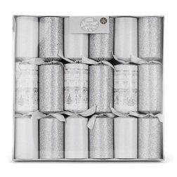 Набор праздничных хлопушек в серебристом цвете CHRISTMAS HOUSE SET OF 6 CRACKERS 6,5*32,5*31 (Silver