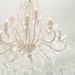 Большая люстра на 12 лампочек белого цвета SHAMLEY 12 LIGHT 71*56*56 (White)