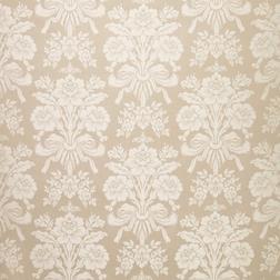 Бумажные обои трюфельного цвета с роскошным узором TATTON (Truffle/Off White)
