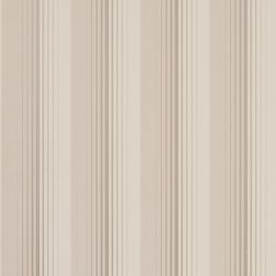 Бумажные обои в вертикальную полоску бежево-коричневого цвета DRAPER STRIPE (Truffle)