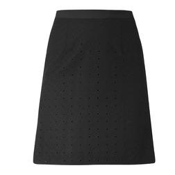 Классическая юбка А-образной формы с перфорацией MS 408-t