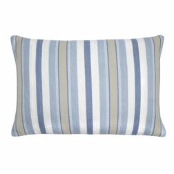 Широкая декоративная подушка в вертикальную полоску CROYDE STRIPE 40*60 (Seaspray)