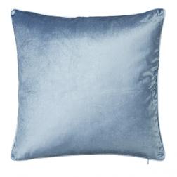 Плюшевая декоративная подушка синего цвета NIGELLA 50*50 (Seaspray)