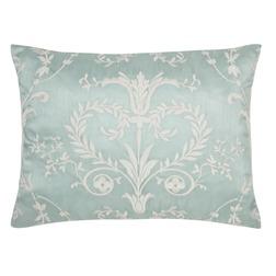 Декоративная подушка голубого цвета с белой вышивкой JOSETTE EMB 40*50 (Duck Egg)