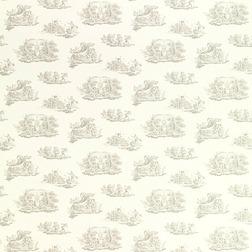 Обои с архивным рисунком светло-серого цвета TOILE (Dove Grey)
