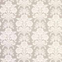 Бумажные обои светло-серого цвета со светлым цветочным рисунком TATTON (Dove Grey)