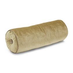 Бархатная подушка-валик золотистого цвета NIGELLA 17*45 (Antique gold)