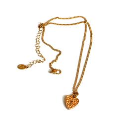 Подвеска золотистого цвета с кулоном в форме сердца JW 954