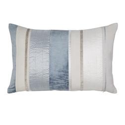 Декоративная подушка прямоугольной формы в голубую и светло-бежевую полоску CATALINA 40*60 (Seaspray