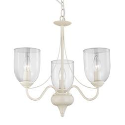 Кремовая люстра на 3 лампочки со стеклянными колбами PORTER 3 Light (Cream)