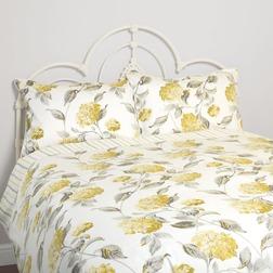 Хлопковое покрывало в желтые цветы гортензии HYDRANGEA 200*200 (Camomile)