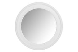 Большое настенное зеркало в белоснежной раме ALENA ROUND Ø100 (White)