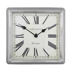 Настенные часы квадратной формы в серебристой раме SQUARE FINISH WALL 40*40*6 (Silver)