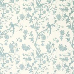 Гардинная ткань с рисунком голубого цвета SUMMER PALACE (Off White/Duck Egg)