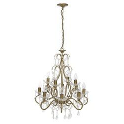 Большая люстра золотистого цвета на 12 лампочек SHAMLEY 12 LIGHT 71*56*56 (Gold)