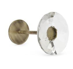 Металлический держатель для занавесок со стеклянным наконечником FRANCES HOLDBACK 10,5*16 (Brass)