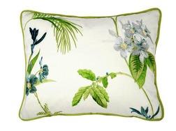 Декоративная подушка кремового цвета с принтом растительности ORCHID EMBROIDERY 40*50 (Apple)