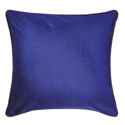 Плюшевая подушка насыщенного синего цвета NIGELLA 50*50 (Royal Blue)