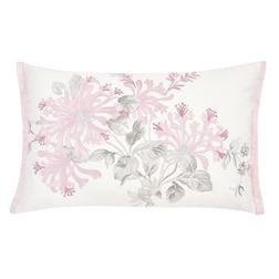 Декоративная подушка с вышивкой розовых цветов HONEYSUCKLE EMB 40*60 (Cyclamen)