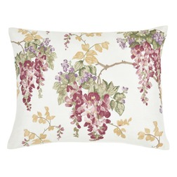 Декоративная подушка с вышивкой глицинии WISTERIA EMB 40*50 (Cranberry)