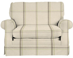 Раскладное английское кресло PADSTOW SNUGGLER SOFABED 91*127*95 (Band E/Loxley Check Apple)