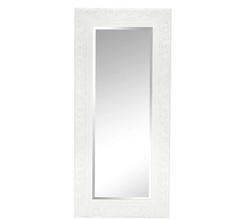 Настенное зеркало в раме белого цвета ELSPETH OVERMANTEL 64*140*5 (White)