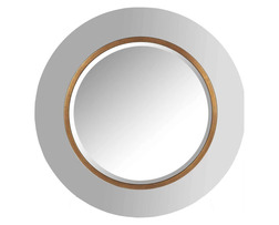 Круглое зеркало в белой раме MAYA Ø90 (Copper)