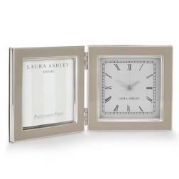 Рамка для фото с часами ENAMEL CLOCK FRAME 36,6*13*2,2 (Dove Grey)