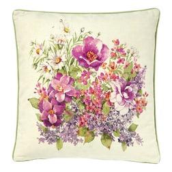 Большая подушка с ярким цветочным букетом FLOWER SHOW 50*50 (Berry mix)